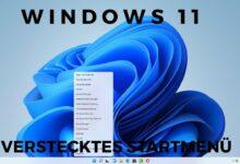 Windows 11 hidden start menu