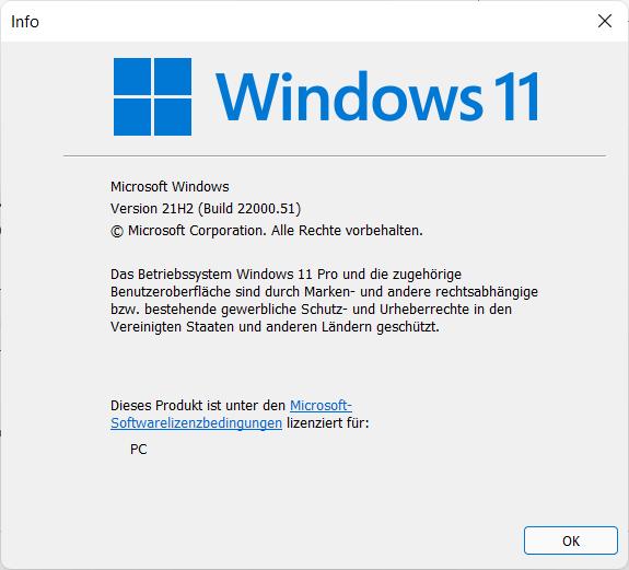Windows 11 - welche Version ist installiert