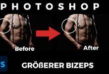 Groesserer Bizeps Adobe Photoshop