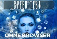 Internet Speedtest ohne Browser
