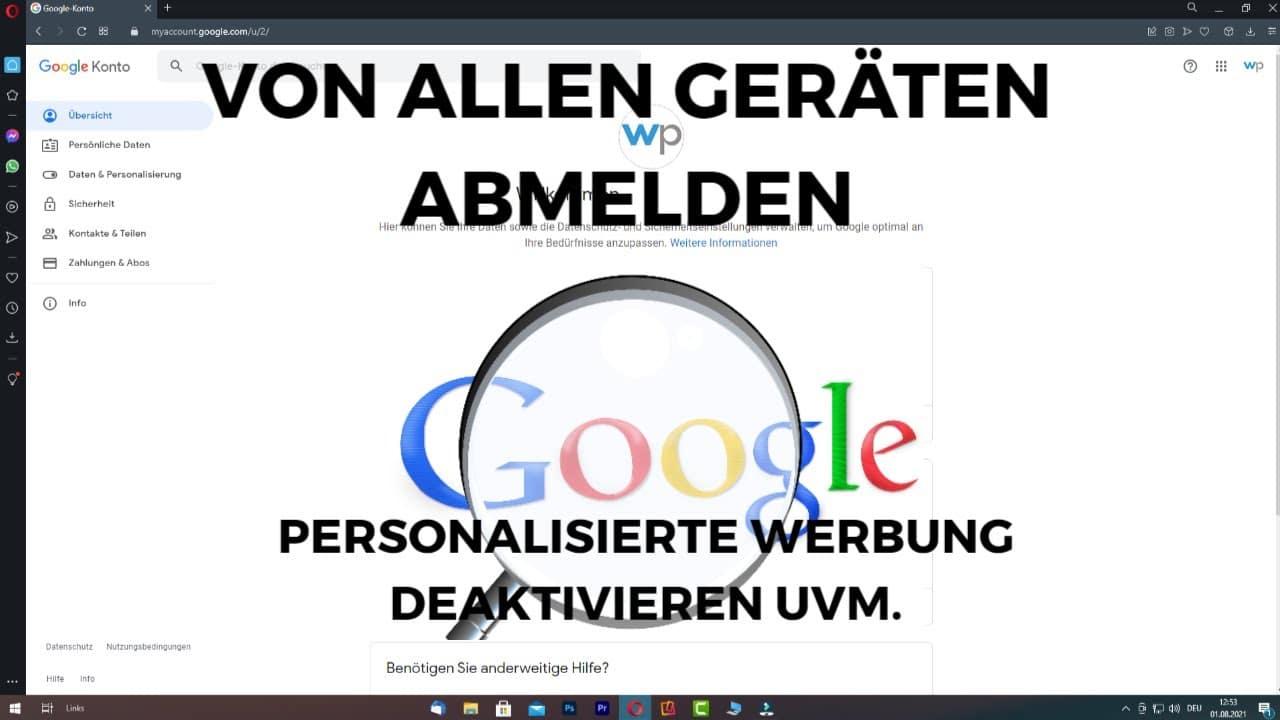 Von allen Geraeten Google Account abmelden