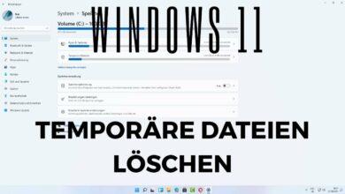 Windows 11 Temporaere Dateien loeschen