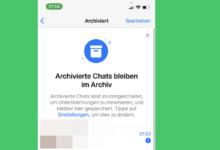 archivierte chats archiv