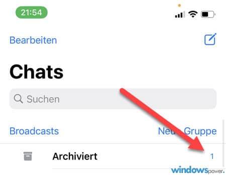 whatsapp chats im archiv lassen