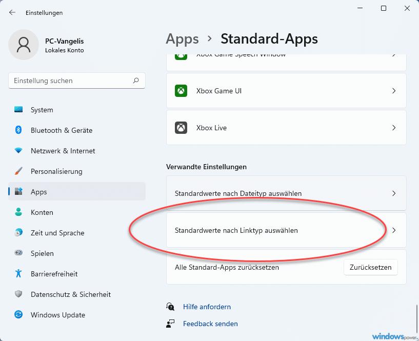 standard apps nach dateityp auswaehlen