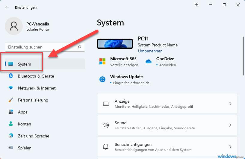 windows 11 system