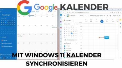 Google Kalender mit Windows 11 Kalender synchronisieren
