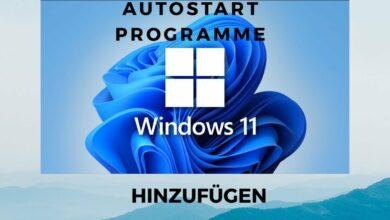 Windows 11 Autostart Programme hinzufuegen