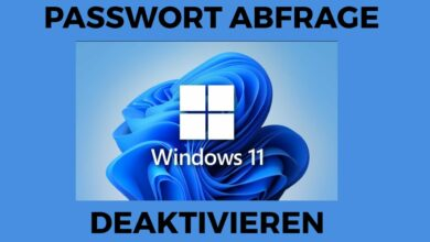 Windows 11 Passwort Abfrage deaktivieren