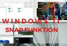 Windows 11 Snap Funktion