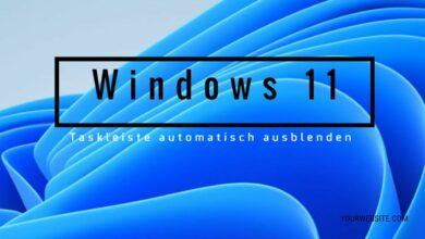 Windows 11 Taskleiste automatisch ausblenden