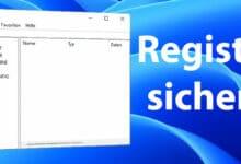 windows registry sichern windows 11